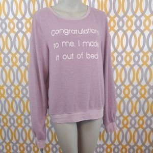 WILDFOX Baggy Jumper Congratulations To Me Large